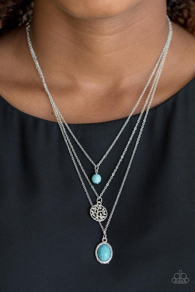 Tree of Life Charm - Blue Necklace