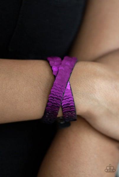 Under The SEQUINS - Purple & Blue Snap Wrap
