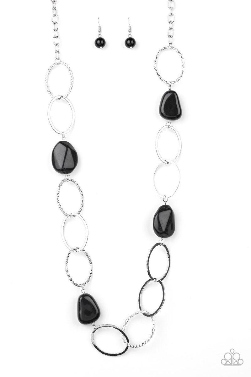 Modern Day Malibu - Black Necklace