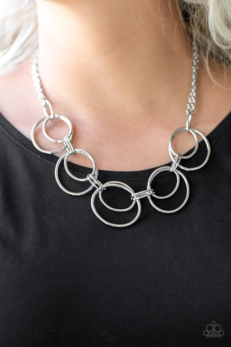 Urban Orbit - Silver Necklace