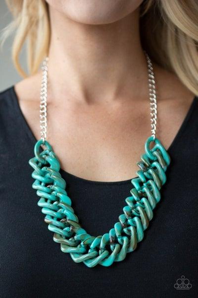 Comin In HAUTE - Blue Necklace