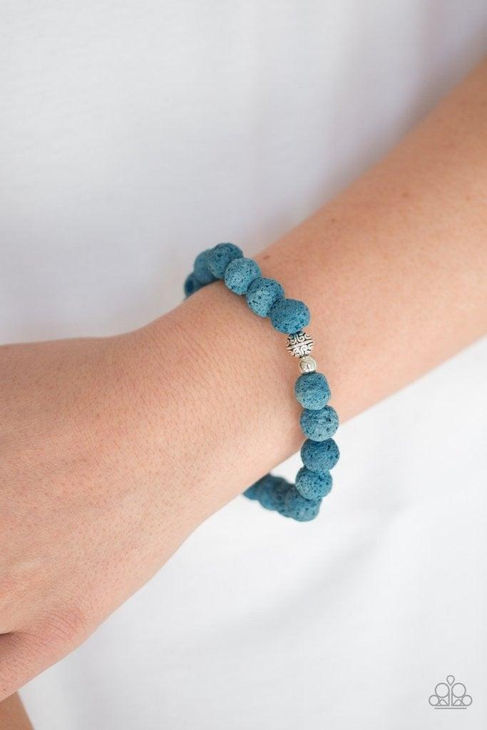 Steady Now - Blue Lava Bracelet