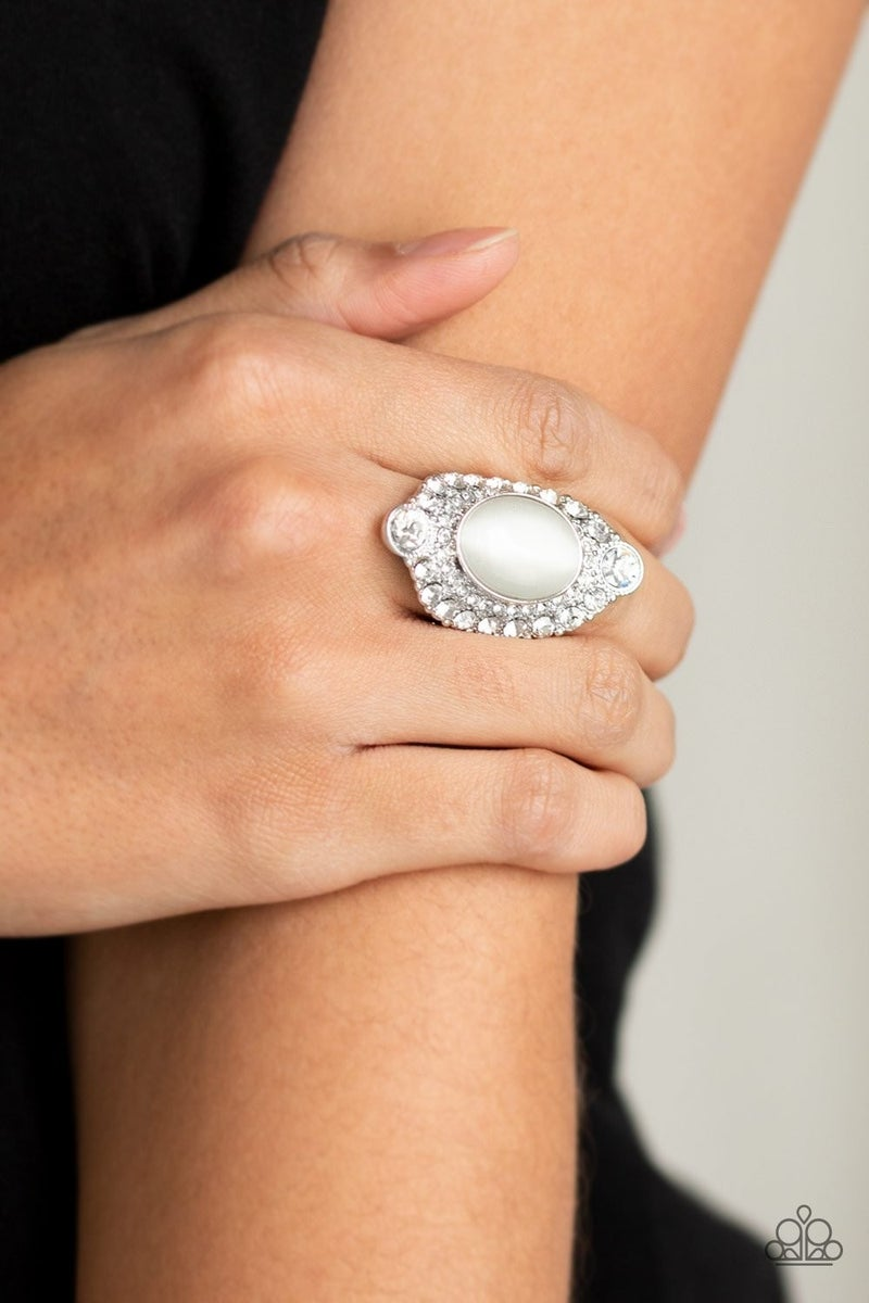 Riviera Royalty - White Ring