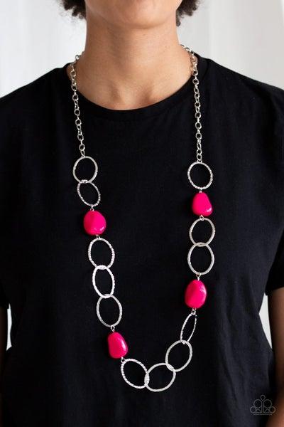 Modern Day Malibu - Pink Necklace
