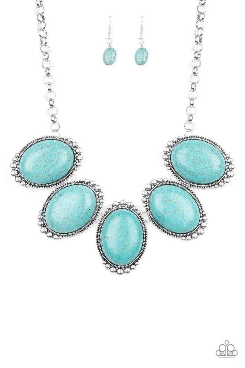 Prairie Goddess - Blue Necklace