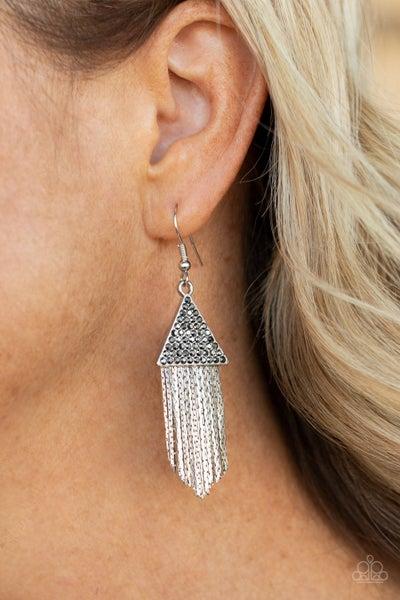 Pyramid SHEEN - Silver Earrings