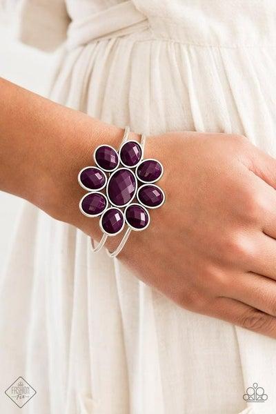 Petal Persuasion - Purple Hinged Bracelet