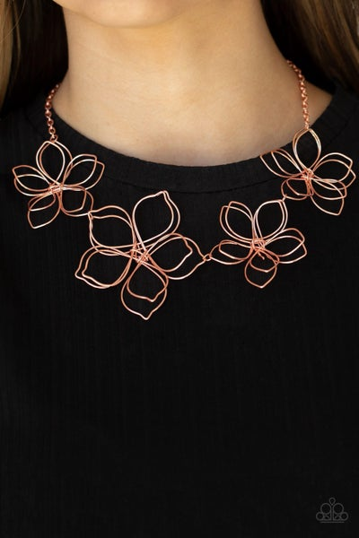 Flower Garden Fashionista - Copper Necklace