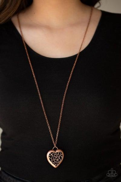 Victorian Valentine - Copper Necklace