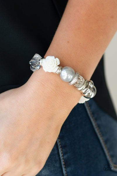 Here I Am - Silver Stretchy Bracelet