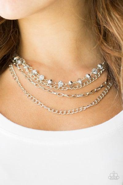 Extravagant Elegance - Silver Necklace