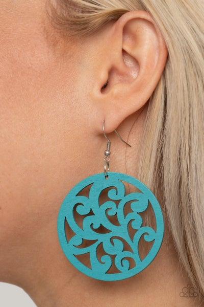 Fresh Off The Vine - Blue Earrings
