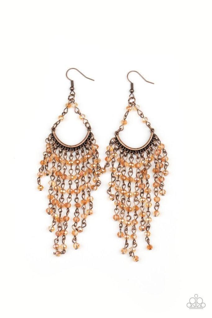 Metro Confetti - Copper Earrings