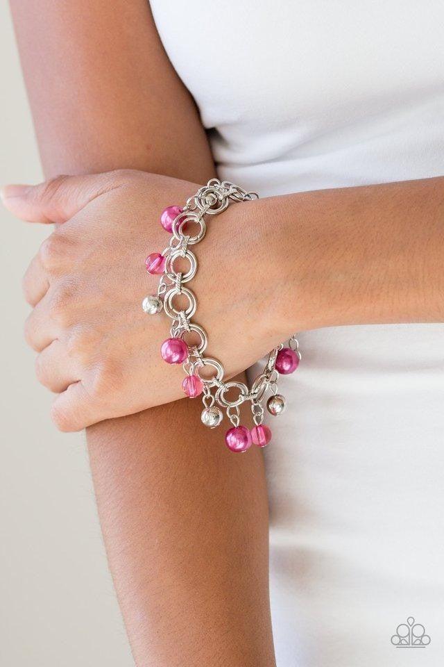 Fancy Fascination - Pink Clasp Bracelet