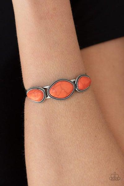 Stone Solace - Orange Cuff