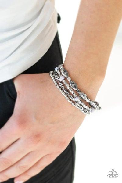 Full Of Wander - Silver Stretchy Bracelet