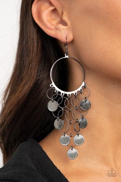 Take a CHIME Out - Gunmetal Earrings