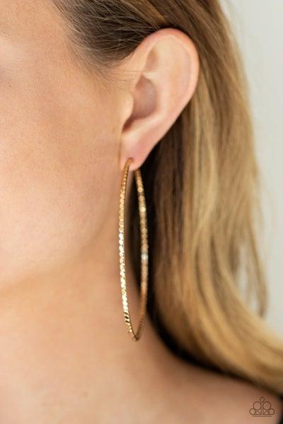 Pump Up The Volume - Gold Hoop Earrings