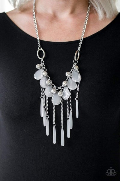 Roaring Riviera - White Necklace