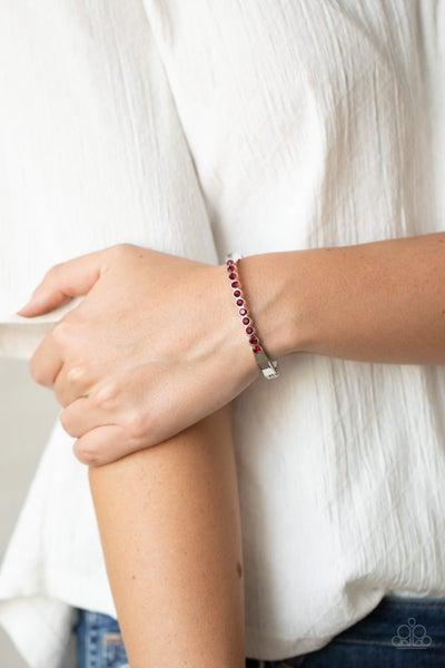 Stellar Beam - Red Hinged Bracelet
