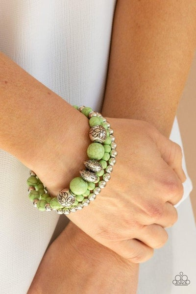 Desert Blossom - Green Stretchy Bracelet