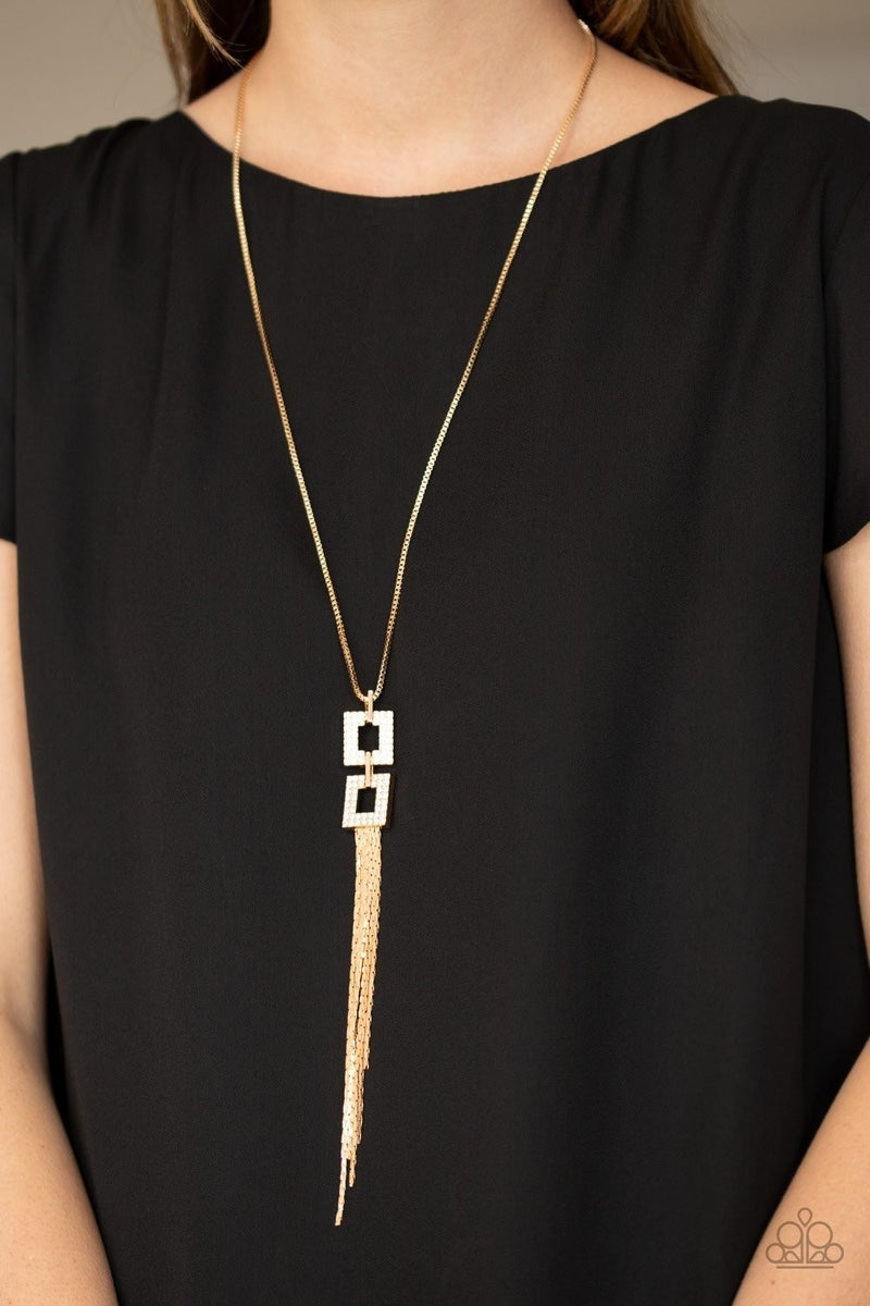 Times Square Stunner - Gold Necklace