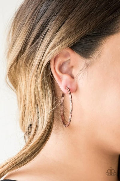 Girl Gang - Copper Hoop Earrings