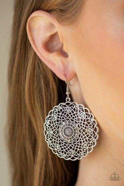 Mandala Mandalay - White Earrings