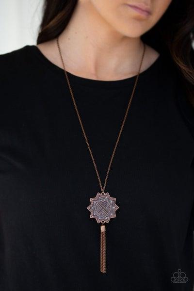 From Sunup to Sundown - Copper Necklace