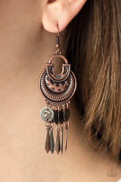 Give Me Liberty - Copper Earrings