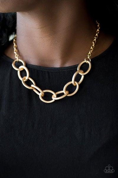 Boldly Bronx - Gold Necklace