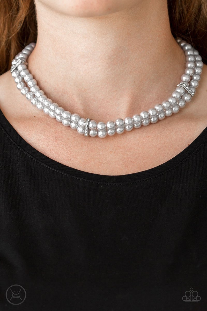 Put On Your Party Dress - Silver Choker