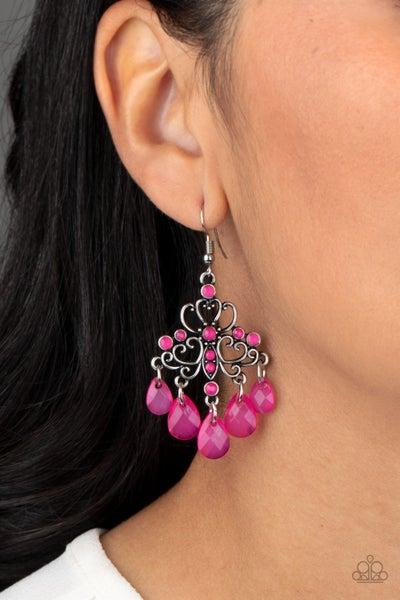 Dip It GLOW - Pink Earrings