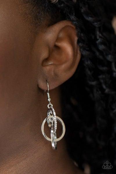 Fiercely Fashionable - White Earrings