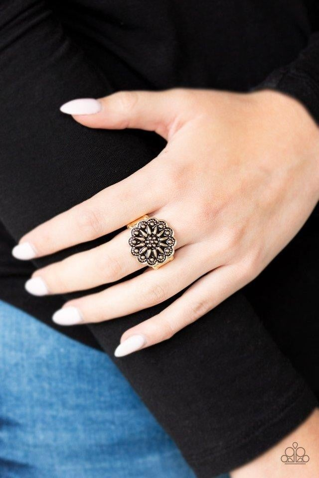 Desert Sunflower - Gold Ring