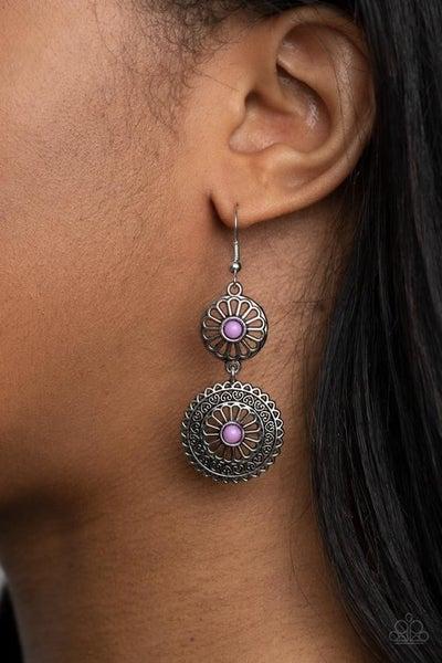 Keep It WHEEL - Purple Earrings