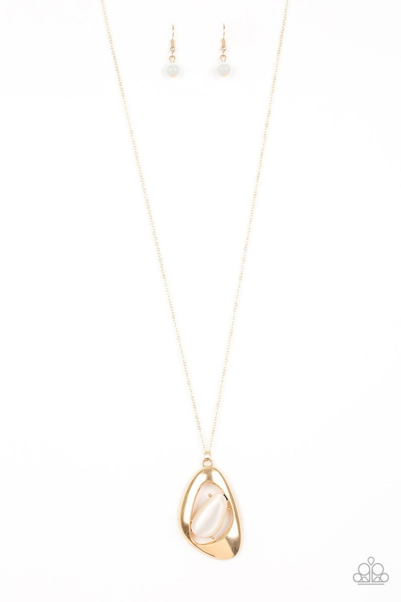 Asymmetrical Bliss - Gold Necklace