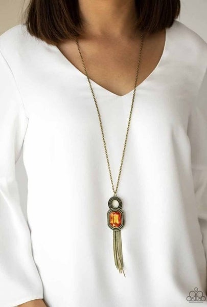 A Good TALISMAN Is Hard To Find - Brass Necklace