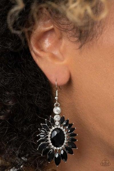 Big Time Twinkle - Black Earrings