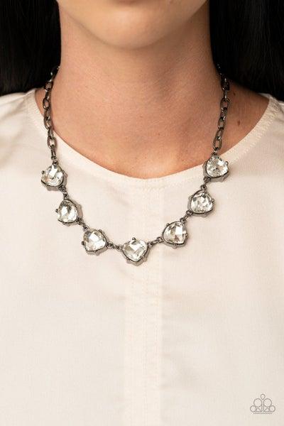 Star Quality Sparkle - Gunmetal Necklace