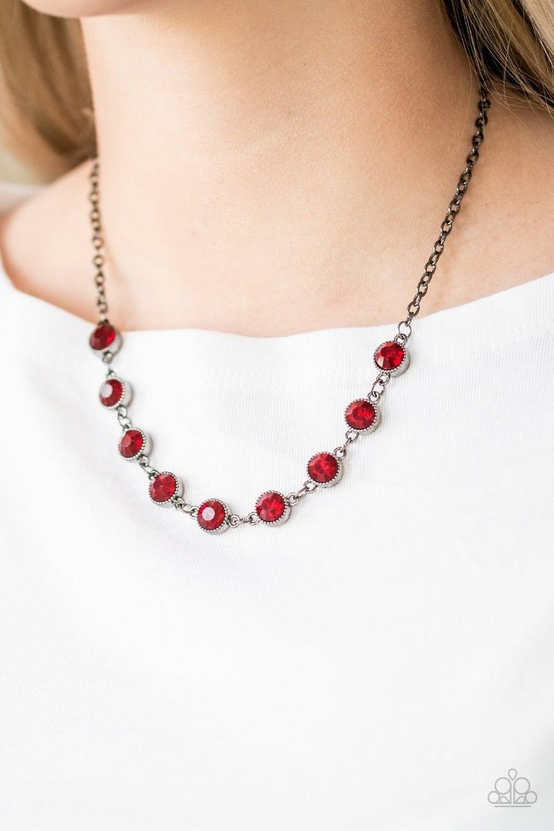 Starlit Socials - Gunmetal Necklace