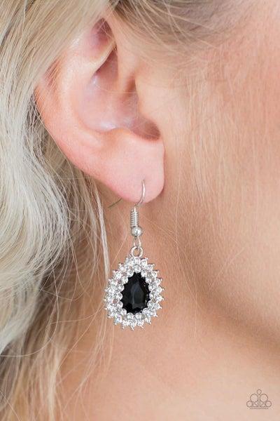 Star-Crossed Starlet - Black Earrings
