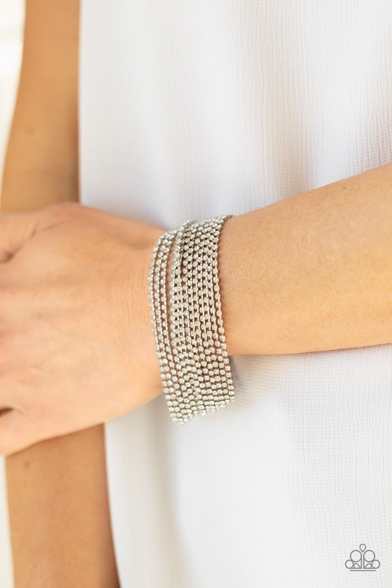 I Woke Up Like This - White Clasp Bracelet - Life of the Party Exclusive June 2021