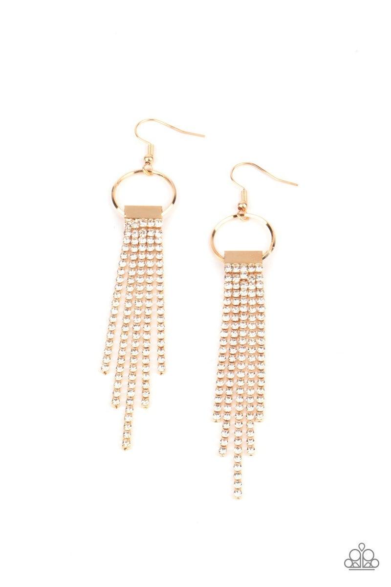 Tapered Twinkle - Gold Earrings