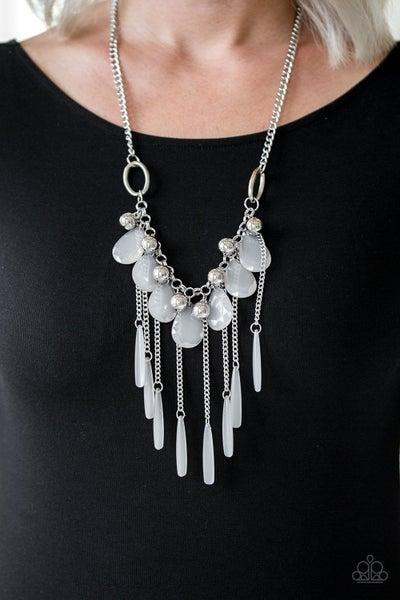 Roaring Riviera - Silver Necklace