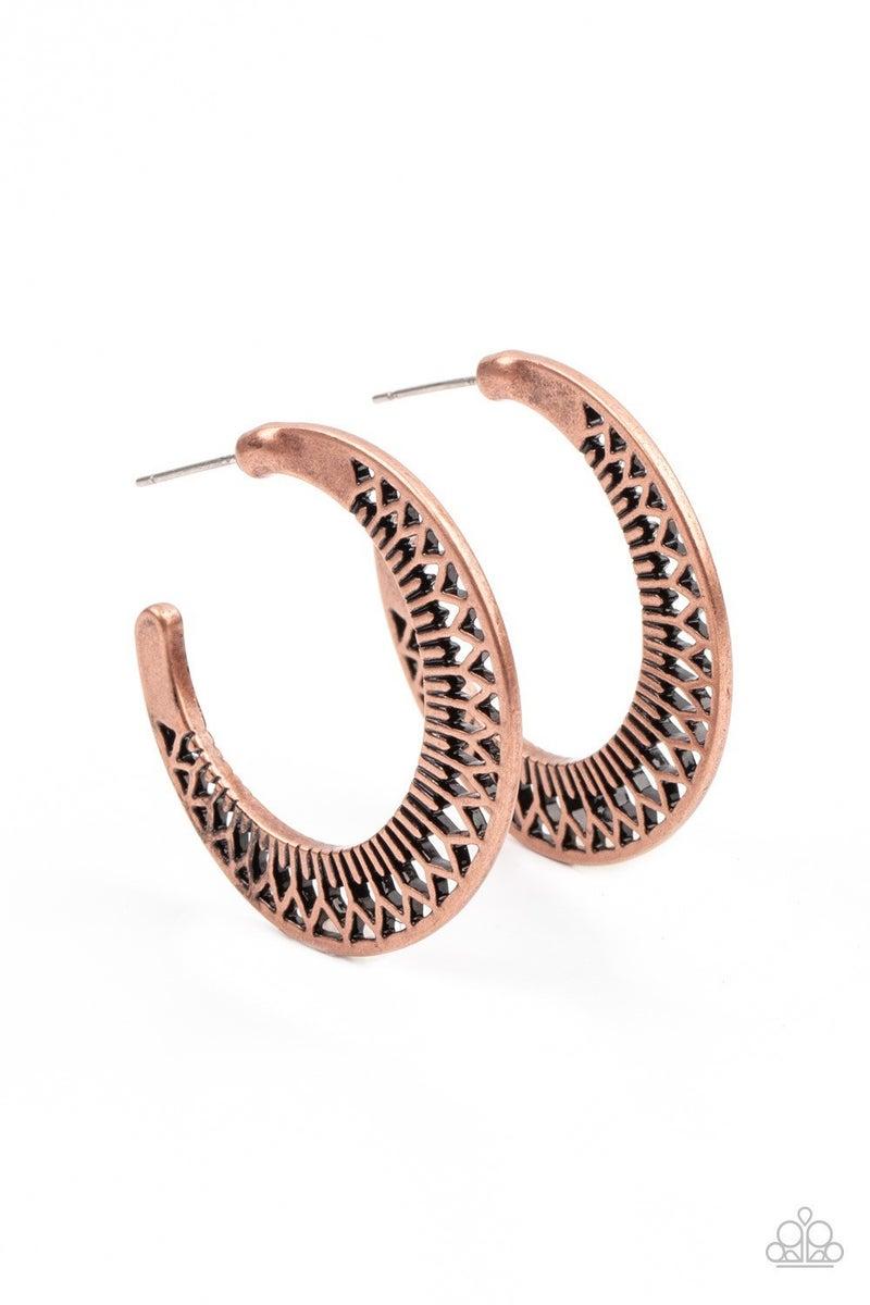 Bada BLOOM! - Copper Hoop Earrings