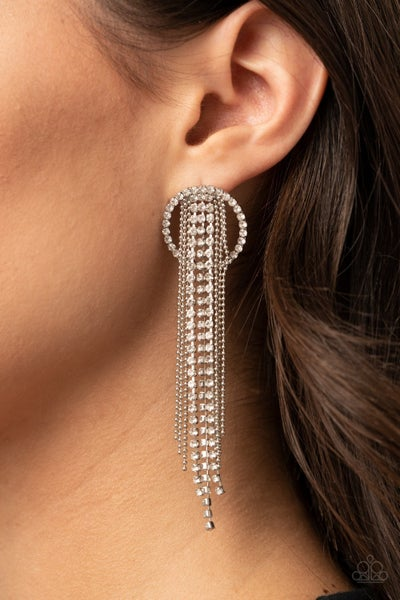 Dazzle by Default - White Earrings