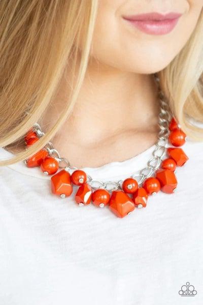 Gorgeously Globetrotter - Orange Necklace