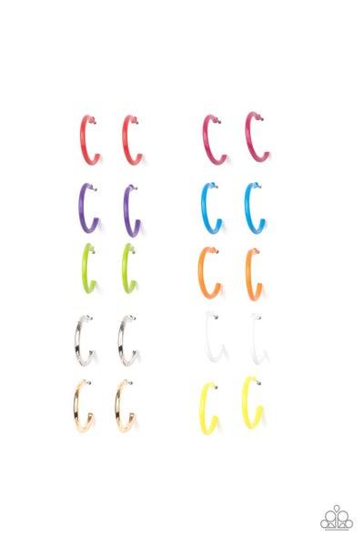 Starlet Shimmer - Color Hoop Earrings