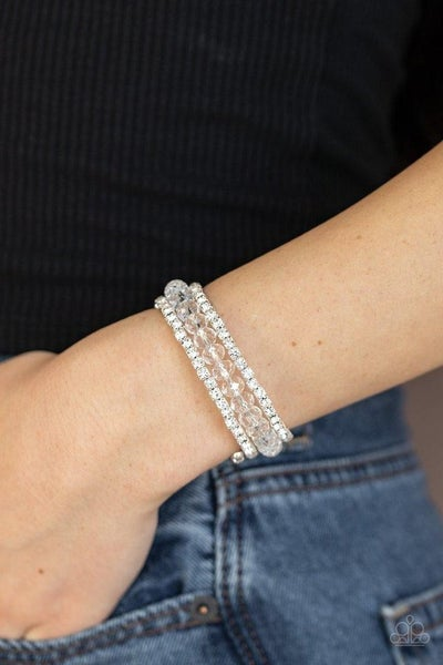 Glam-ified Fashion - White Coil Wrap